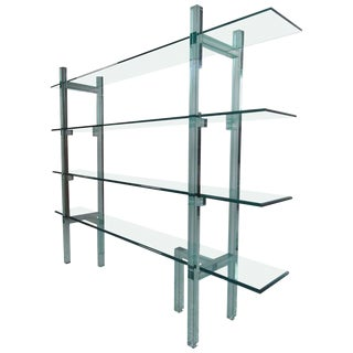 Contemporary Modern Freestanding Glass Bookcase or Étagère For Sale