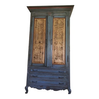 Blue Wooden Spanish Armoire