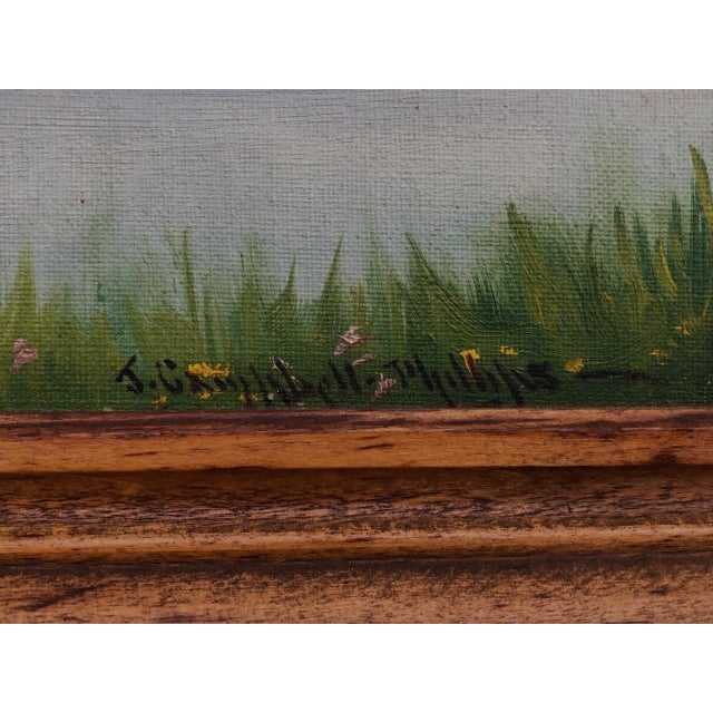 """American Early 20th Century """"A Lake in the Berkshires"""" Landscape Oil Painting by J. Campbell Phillips, Framed For Sale - Image 3 of 10"""