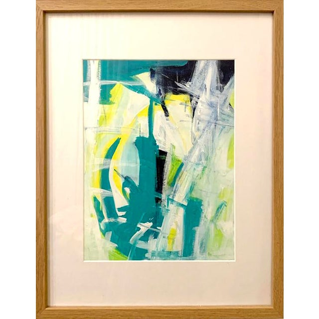 Contemporary Abstract Acrylic Painting, Framed For Sale