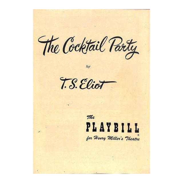 """The Cocktail Party"" Book For Sale"