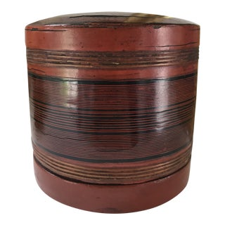 Vintage Antique Art Deco Burmese Yun Stacking Betel Box Container For Sale