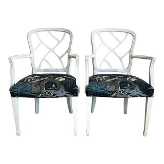 Mid-Century Chinese Chippendale Armchairs - A Pair