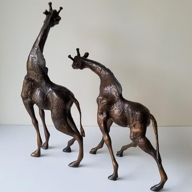 Cast Iron Giraffes by Metropolitan Galleries - a Pair For Sale - Image 4 of 13