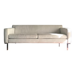 Design Within Reach Suede Theater Sofa