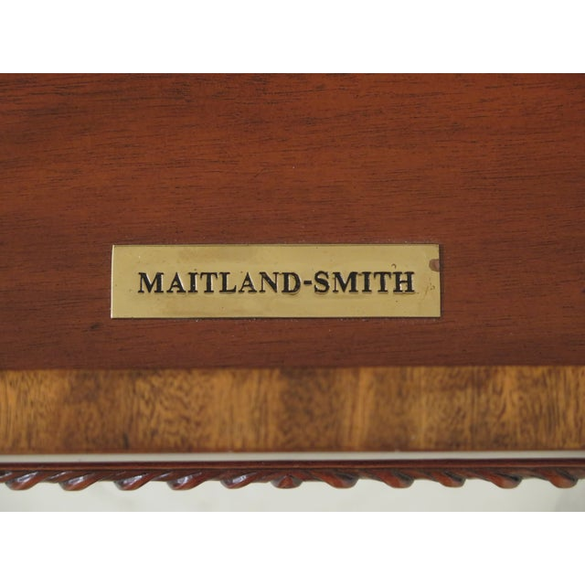 Maitland Smith Figural Mahogany Empire Dressing Vanity For Sale - Image 12 of 13