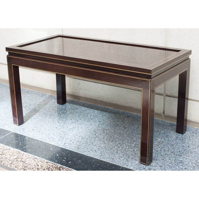 2020s Contemporary Black Lacquer Coffee or Cocktail Table For Sale - Image 5 of 10