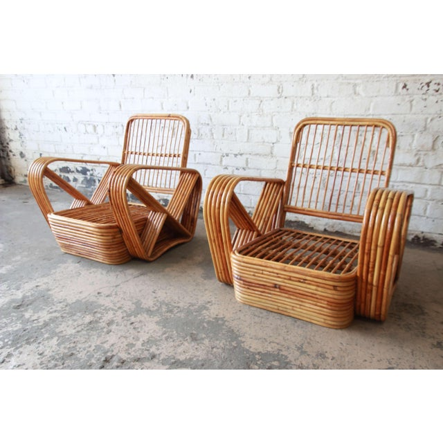 Bamboo Pretzel Chairs Attributed to Paul Frankl - A Pair For Sale - Image 5 of 10