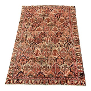 1950s Vintage Persian Bactiari Rug - 6′1″ × 9′4″ For Sale