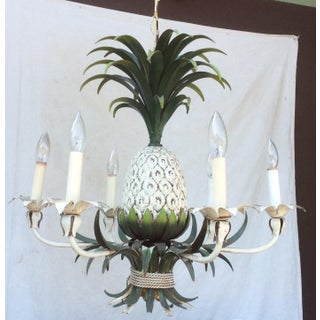 6-Light Painted Tole Pineapple Chandelier Preview