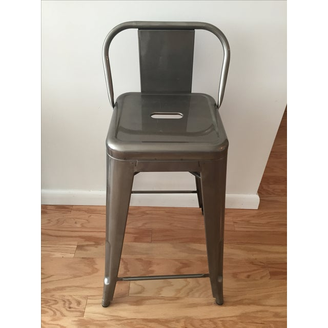 Tolix-Inspired Industry West Metal Counter Stools - Set of 3 - Image 5 of 7