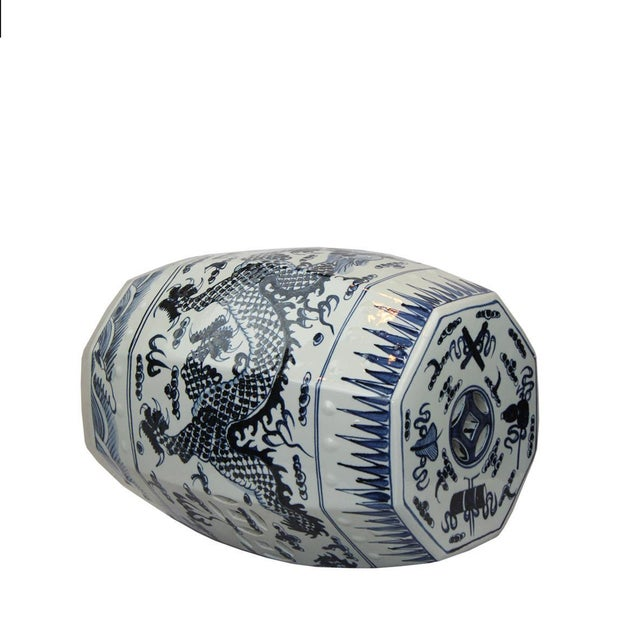 This listing is for a classic blue and white garden stool. This piece features a floral motif. From Pasargad's Stool...