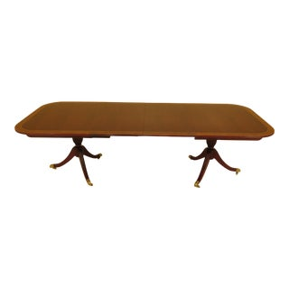 Councill Craftsmen Banded Mahogany Dining Room Table