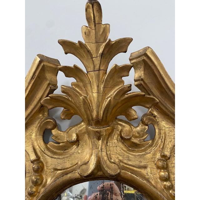 Baroque Antique 19th Century Italian Baroque Gilt Mirror For Sale - Image 3 of 13