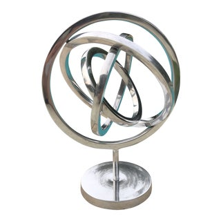 1990s Contemporary Spherical Kinetic Aluminum Sculpture For Sale