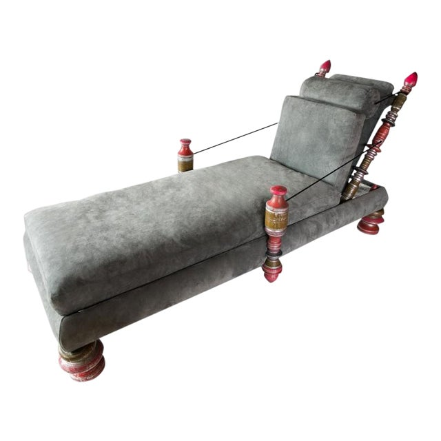 Phillip Lloyd Powell, Unique Custom Chaise Lounge, Usa, 1960s For Sale