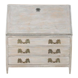 19th Century Gustavian Style Painted Wood Slant-Front Desk For Sale
