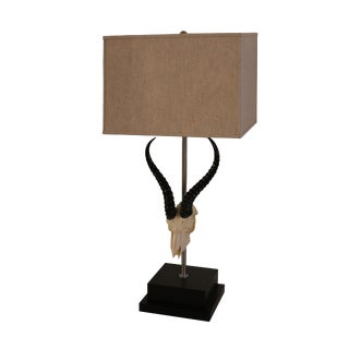 South African Deluxe Springbok Skull Lamp For Sale