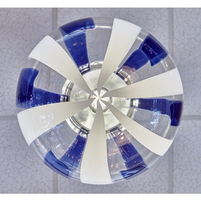 Murano Glass Cobalt Sphere Chandelier For Sale - Image 9 of 10