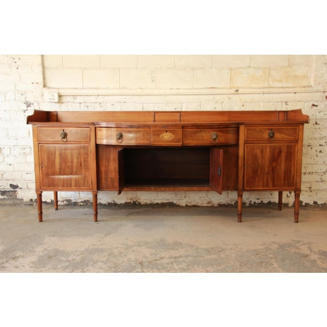 1820s English Inlaid Mahogany Sideboard For Sale - Image 10 of 11