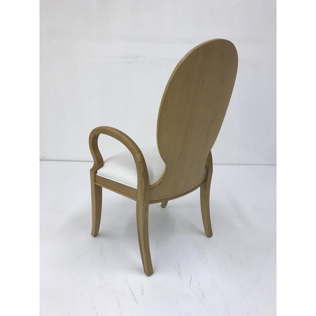 Transitional Century Furniture Oak Dining Arm Chair For Sale - Image 3 of 4