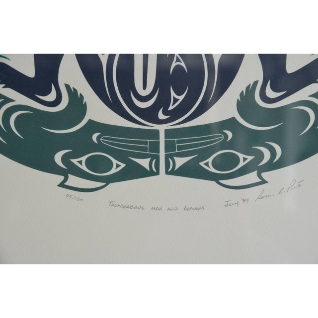 Large Framed First Nations Print by Susan A. Point For Sale - Image 4 of 6