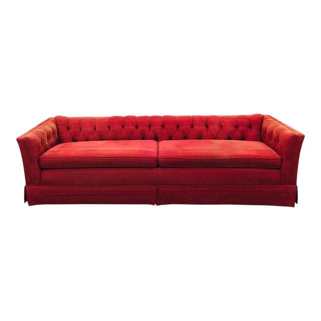 Vintage Chesterfield Style Tufted Button Back Sofa For Sale