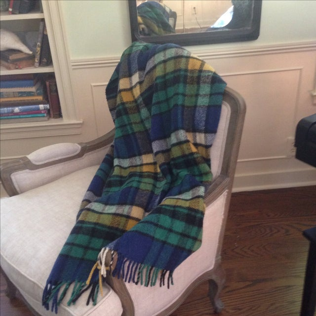 Plaid Wool Tailgate/Picnic Blanket - Image 11 of 11