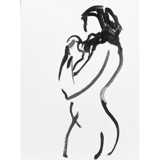 One Minute Pose Nude 133.3 Contemporary Painting by Gretchen Kelly For Sale