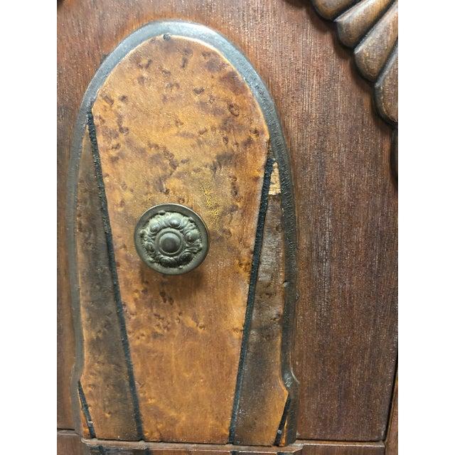 Chestnut 1930s Vintage Art Deco Vanity For Sale - Image 8 of 11