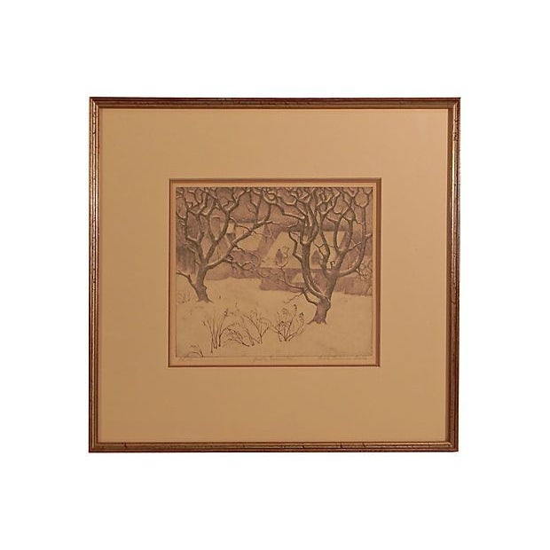 Gentle December Lithograph by Ella Fillmore For Sale