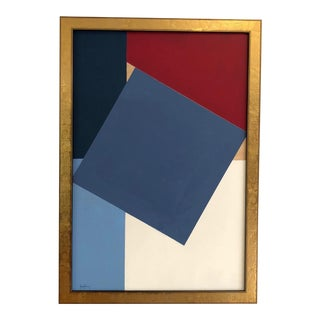 """Modern """"Red White Blue & Birch"""" Painting by Tony Curry For Sale"""