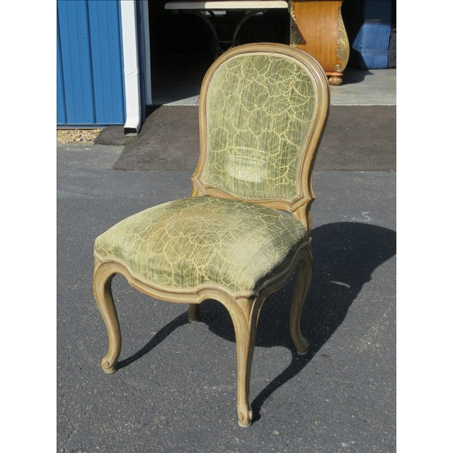 French Distressed Painted Dining Chairs - Set of 6 - Image 7 of 10