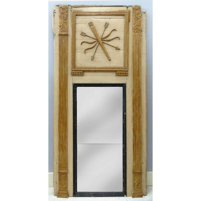 Traditional 18th Century Boiserie Panels Mounted as Trumeau Mirrors - A Pair For Sale - Image 3 of 11