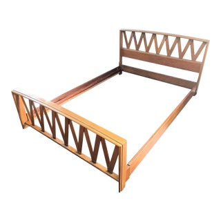 Mid Century Paul Frankl Full Bedframe For Sale