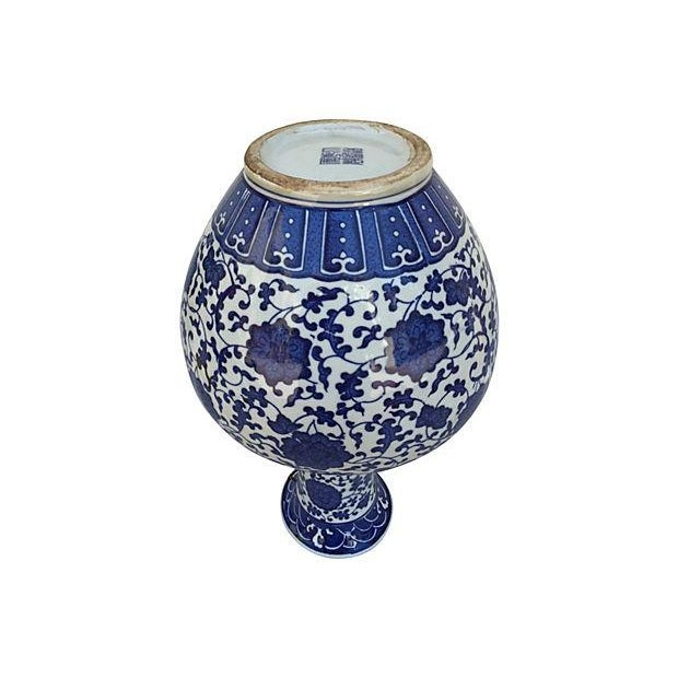 Blue & White Asian Porcelain Vase - Image 5 of 6