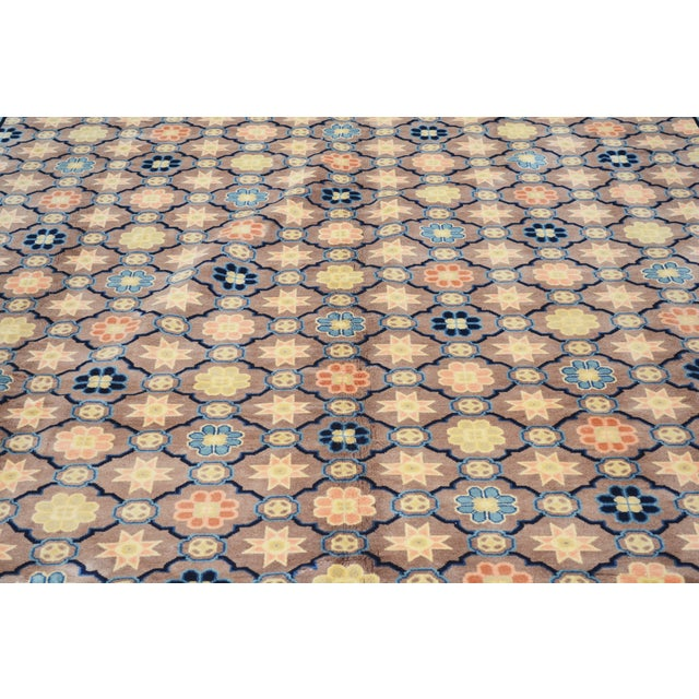 """Art Deco Antique Chinese Rug,8'x10'1"""" For Sale - Image 3 of 7"""
