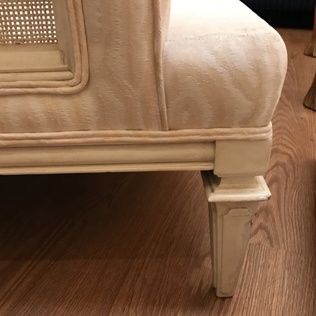 Upholstered & Cane Mid-Century Armchair - Image 8 of 9