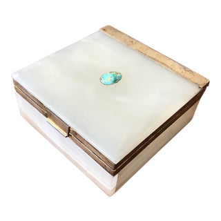 Sterling Silver, Onyx, and Turquoise Box