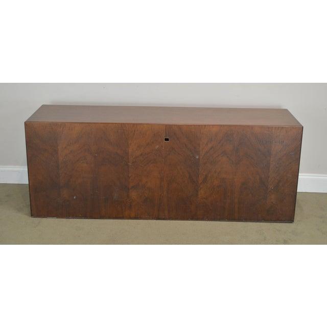 1960s Mid Century Modern Walnut Low 4 Door Credenza Cabinet For Sale - Image 5 of 13