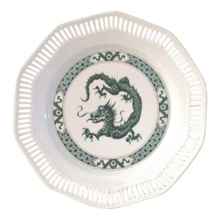 1980s German Green Dragon Display Plate For Sale