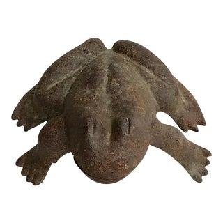 Late 19th Century Antique Cast Iron Frog For Sale