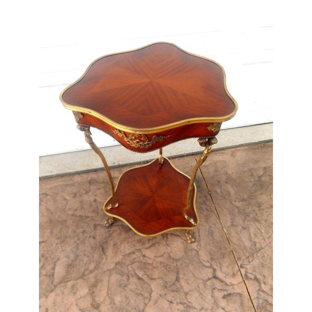 Nwt Vintage French Louis XVI Rococo Style Accent Table For Sale - Image 9 of 9