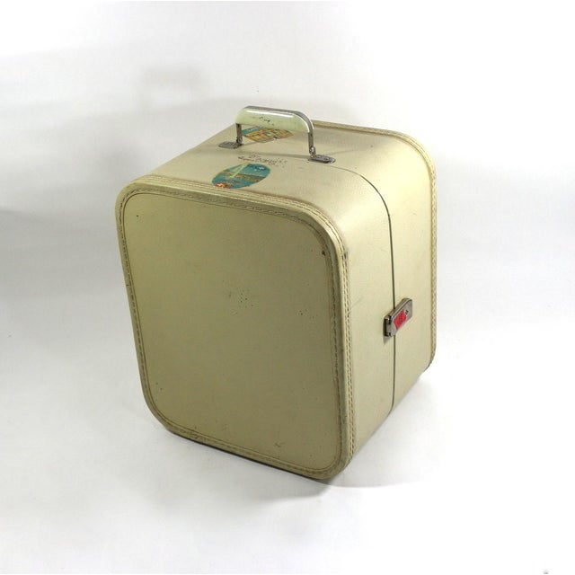 1950s Vintage Leather Hard Travel Case - Image 8 of 9