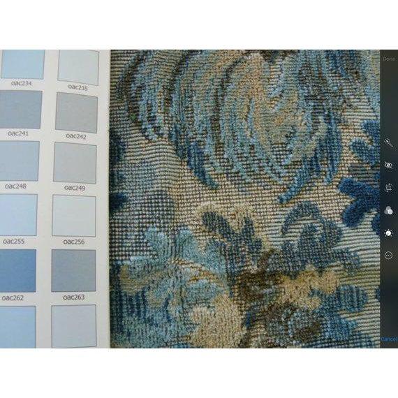 "Brunschwig & Fils Brunschwig and Fils ""Great Ming"" Twilight Velvet Pillows - a Pair For Sale - Image 4 of 8"