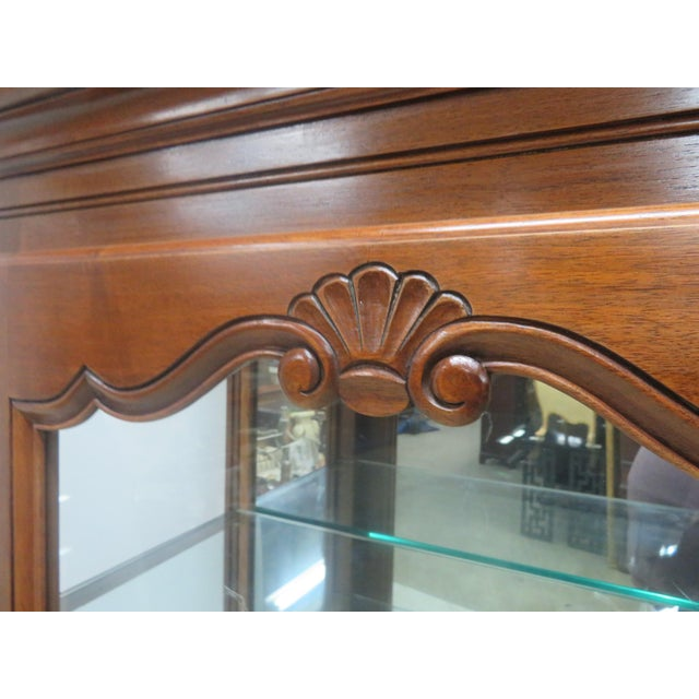 County French Cherry China Cabinet - Image 5 of 10