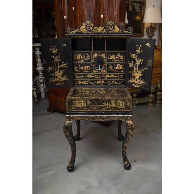 19th Century English Queen Anne Chinoiserie Chest on Stand - Image 5 of 10