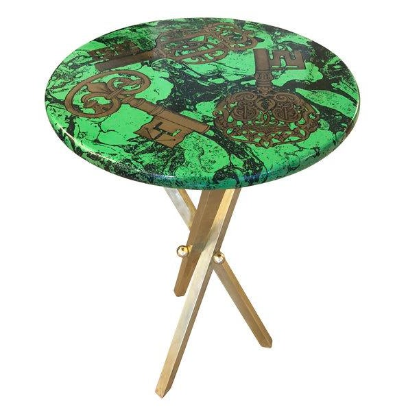 "1950s Italian ""Chiavi"" Fornasetti Side Table For Sale In New York - Image 6 of 6"