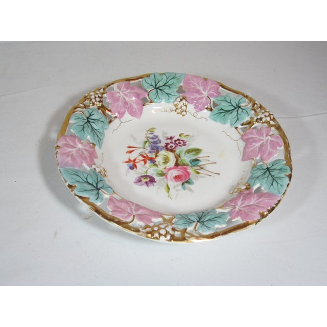 Traditional German Mauve & Turquoise Decorative Bowl For Sale - Image 3 of 5