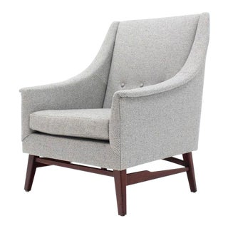 Vintage Mid Century Newly Upholstered Danish Modern Lounge Chair For Sale